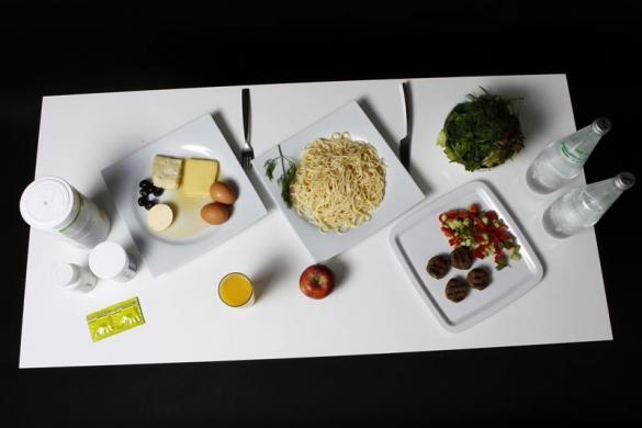 The daily food intake of Turkish Taekwondo fighter and Olympic hopeful Nur Tatar is pictured in Ankara