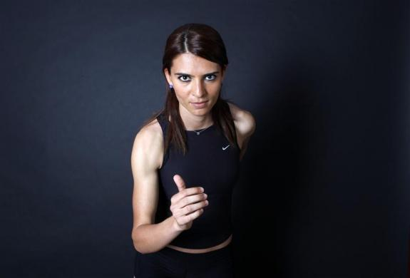 Turkish 800-metre runner and Olympic hopeful Merve Aydin poses for a picture in Ankara