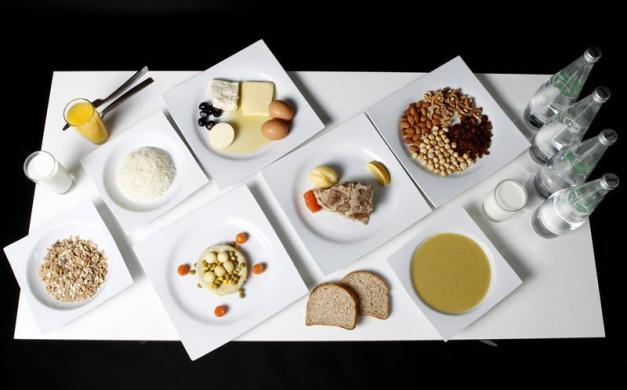 The daily meal intake of Turkish 800-metre runner and Olympic hopeful Merve Aydin is pictured in Ankara