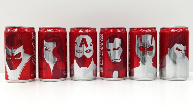 Marvel characters get the Coke treatment. Photo: Alfred Maskeroni