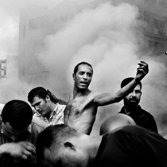 Moments after an Israeli air strike destroyed several buildings in Dahia. Beirut. August 2006 © PAOLO PELLEGRIN/MAGNUM PHOTOS